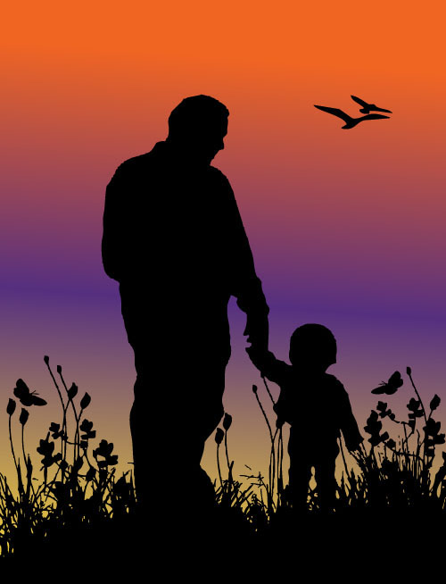 father and child silhouette2