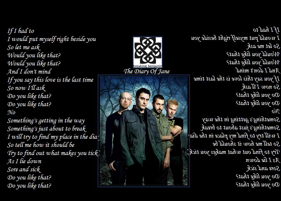 breaking benjamin lyrics